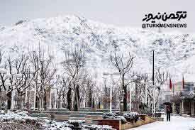 سرما و برف با هم به پیشواز یلدای گلستان می روند