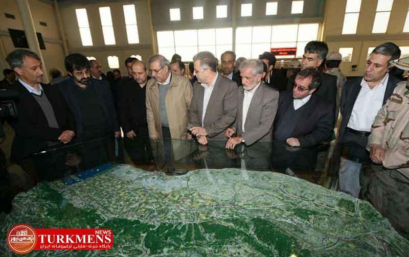 bazdid 28d - دبیر شورای عالی مناطق آزاد و هیات همراه از اینچه برون در شرق گلستان بازدید کردند