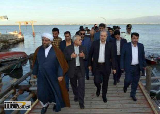 bazdidostandar 28m - استاندار گلستان از پهنه آبی خلیج گرگان و جزیره آشوراده بازدید کرد