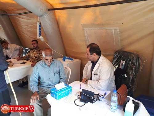 bimarestan 16d - بیمارستان صحرایی ارتش در گلیداغ مراوه تپه خدمات پزشکی رایگان ارائه می دهد