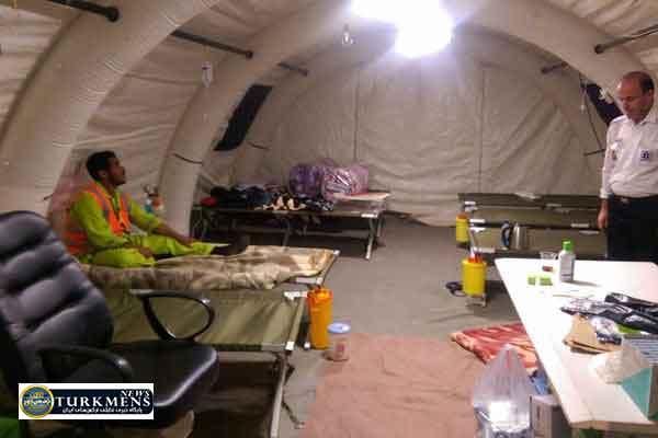 bimarestan 6azar - راه اندازی بیمارستان صحرایی در مناطق محروم گمیشان