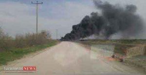 بندر ترکمن,دپو لاستیک,آتش سوزی