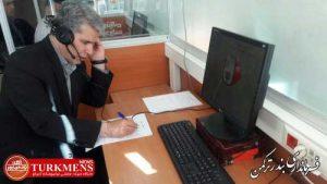 farmandarturkmen 4b 300x169 - فرماندار ترکمن به صورت ارتباط تلفنی مستقیم،پاسخگوی شهروندان بود