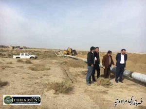 gaz 7azar 300x225 - عملیات اجرایی بزرگترین پروژه گازرسانی استان در مراوه تپه آغاز شد