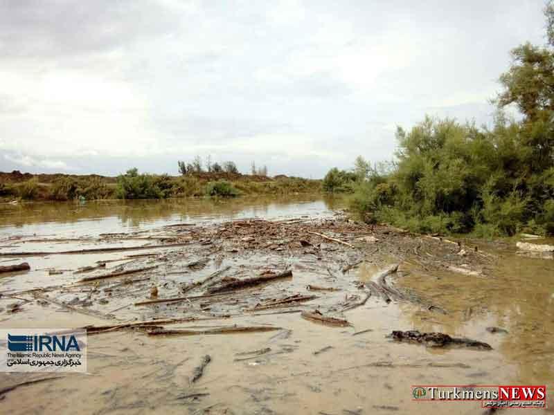 gharesoo 4m - رودخانه قره سو در غرب گلستان لبریز از آب شد