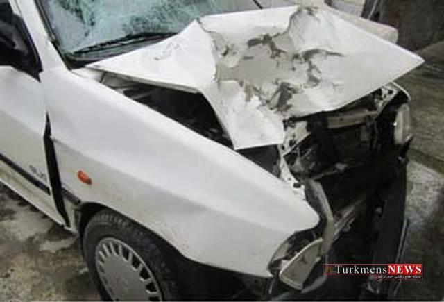 golestanema30 - مرگ موتور سوار در تصادف با پراید در مراوه تپه