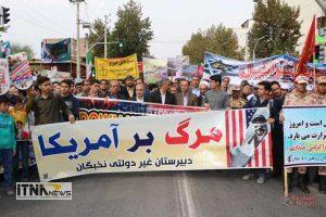 gonbad1 13a 1 300x200 - راهپیمایی 13 آبان در گنبدکاووس برگزار شد+تصاویر