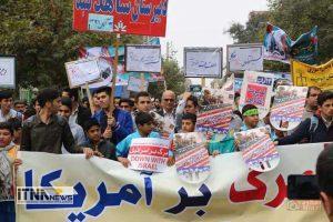 gonbad1 13a 2 300x200 - راهپیمایی 13 آبان در گنبدکاووس برگزار شد+تصاویر
