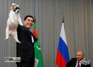 hedie2 19m 300x218 - رییس جمهور ترکمنستان به پوتین سگ هدیه داد +عکس