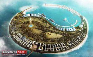 jazire khazar 300x184 - ترکمنستان در خزر جزیره می سازد