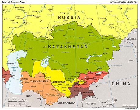 map central asia th3 - فرصتهای پیش روی ایران در آسیای مرکزی که مورد غفلت قرار گرفتهاند