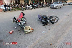گنبدکاووس,گدم آباد,تصادف دو موتورسیکلت,مصدومیت 3 نفر