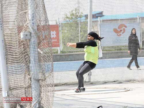 ورزشکار گلستانی در ترکیه چکش پرتاب می کند