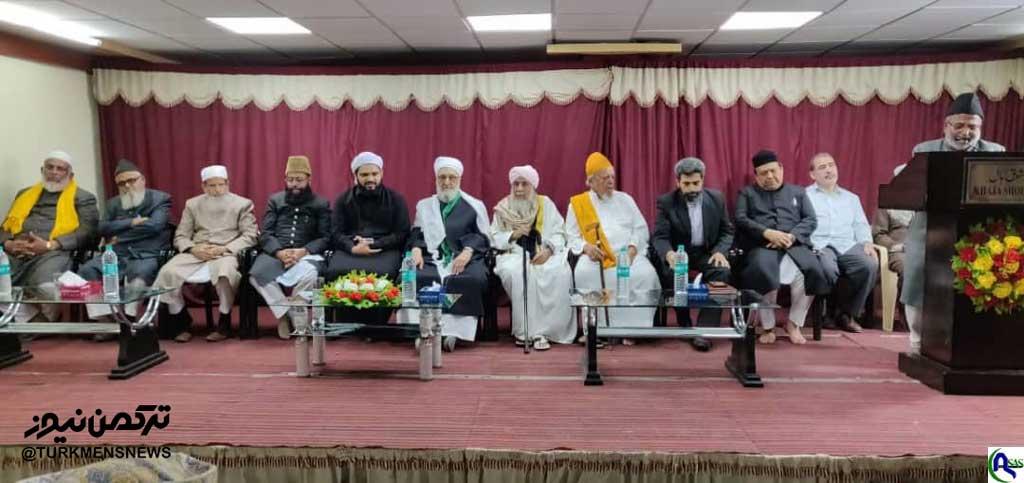 دیدار مولانا فاضلی مدیر حوزه علمیه شورک ملکی با علمای حیدرآباد هند+تصویر