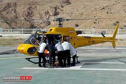 oorjans golestan - اعزام بالگرد اورژانس گلستان برای انتقال فرد گلوله خورده