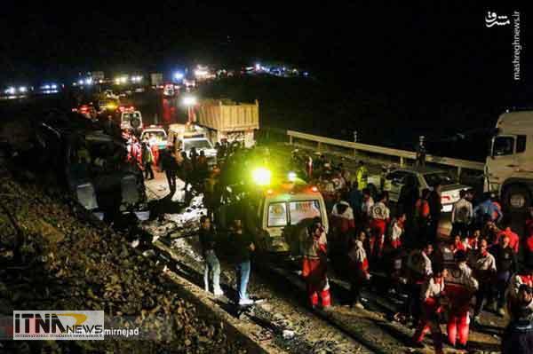 otubus 16a - آخرین جزئیات تصادف اتوبوس گنبدکاووس در گردنه گدوک
