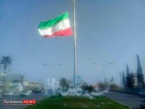 parcham 9f 300x225 - پرچم مقدس جمهوری اسلامی ایران بر فراز دکل 50 متری در ورودی شهر گنبد کاووس برافراشته شد