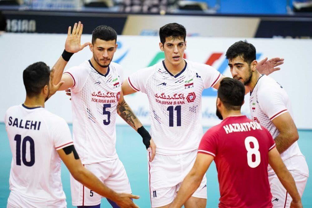 فینالیست شدن تیم ملی والیبال ایران پس از غلبه بر چین