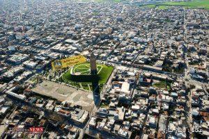 """""""نقشه هوایی شهر گنبد کاووس"""" عکاس: یاشار نیازی"""
