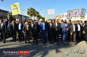 rahpeimaii turkmen1 300x199 - راهپیمایی باشکوه یوم ا.. 13 آبان در شهرستان ترکمن برگزار شد