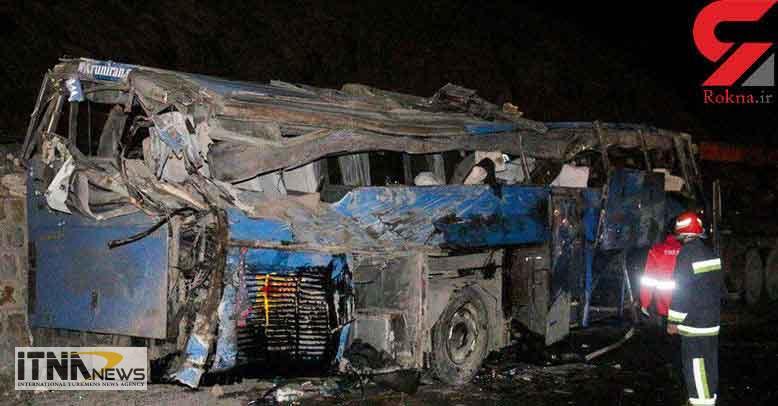 soghoototubus 15a - جزئیات حادثه سقوط وحشتناک اتوبوس به دره در سوادکوه  + عکس