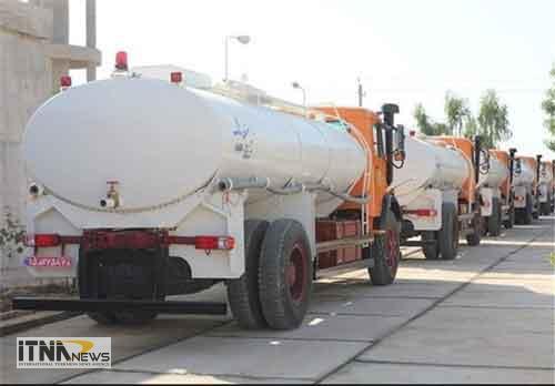 tankerab 22a - اعزام تانکرهای آبرسانی استان گلستان به مناطق زلزله زده کرمانشاه