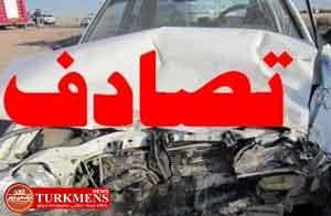 tasadof 1b - در دو تصادف رانندگی در منطقه مرزی گنبدکاووس چهار نفر مصدوم شدند