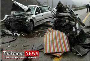 tasadof 30b 300x203 - یک کشته و دو مصدوم حاصل تصادف سمند با پژو در شرق گلستان