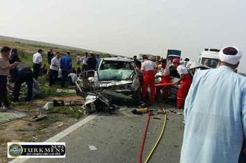 tasadof 7azar - در تصادف محور آق قلا یک نفر کشته و یک نفر مجروح شدند