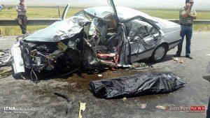 tasadof 8m 300x169 - تصادف دو خودرو در گلستان یک کشته برجای گذاشت