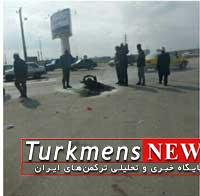 بندر ترکمن,تصادف موتورسیکلت و نیسان,مرگ راکب موتور