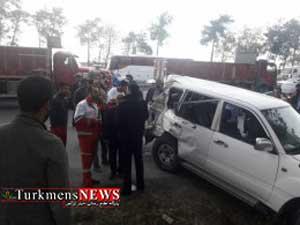 سه معاون وزیر کار در تصادف در گلستان آسیب دیدند