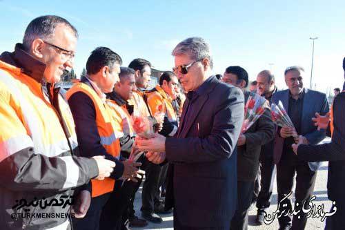 turkmen manor hivechi1 - حضور فرماندار ترکمن در مانور استانی طرح راهداری زمستانه