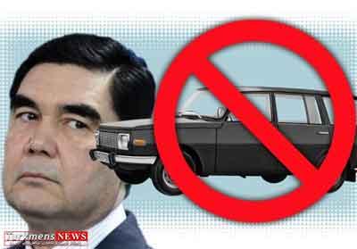 ترکمنستان,بحران ممنوعیت تردد خودروهای رنگ تیره