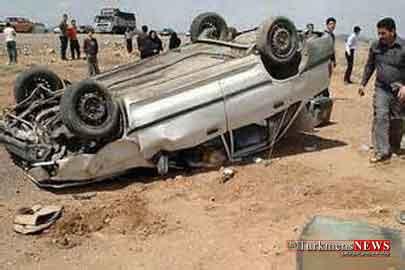 vajegoonip 1m - بر اثر واژگونی پراید در جاده مرزی گنبدکاووس دو نفر روانه بیمارستان شدند