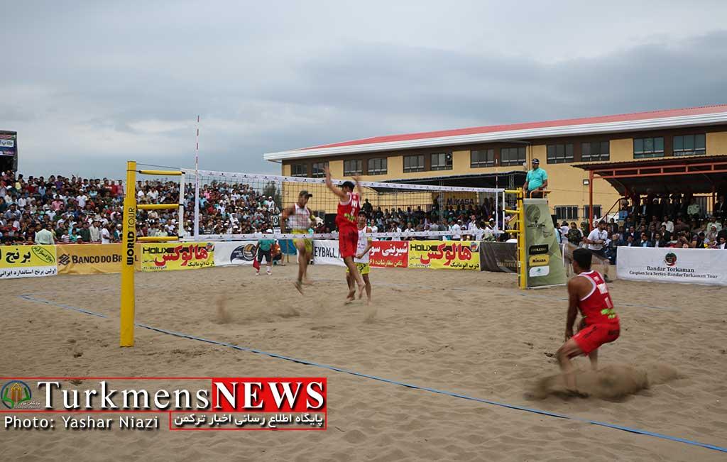valibal bandar turkmensnews2 - بندر ترکمن، مرکز توسعه والیبال ساحلی آسیا