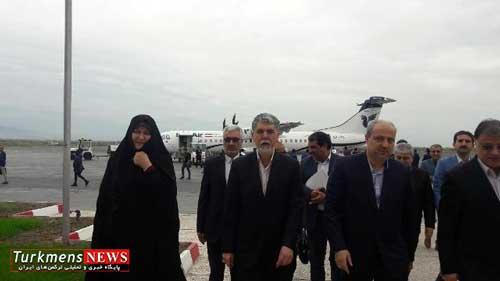 vazir golestan - وزیر فرهنگ و ارشاد اسلامی وارد گلستان شد
